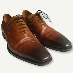 Magnanni Brown Oxford Derby Lace Up Shoes